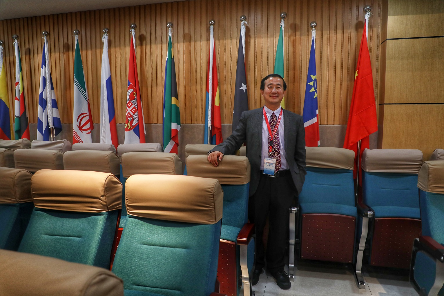 Chaosheng Zhang gave a plenary talk at UNESCO ICGG conference-image