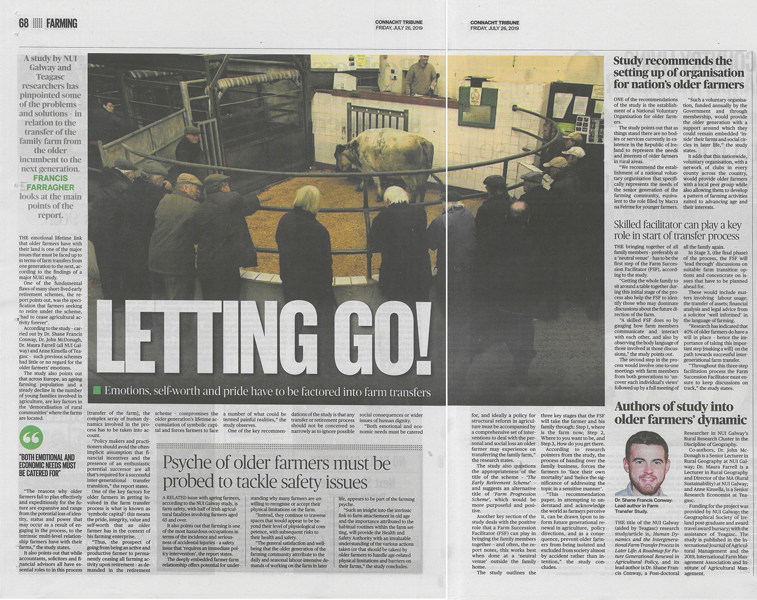 Study by the Rural Studies Research Cluster featured in the Connacht Tribune-image