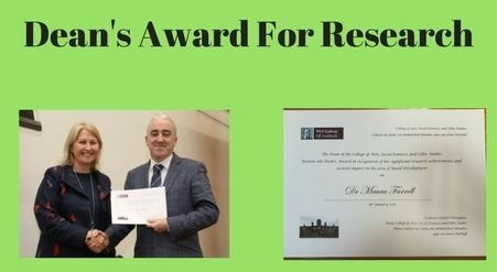 Dr Maura Farrell Received Dean's Award for Research-image