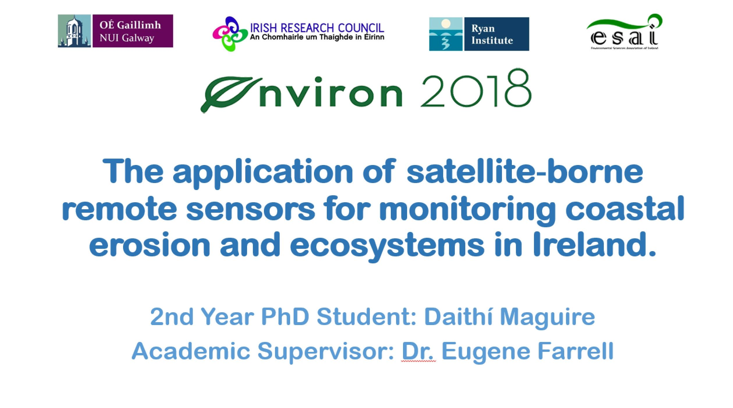 Daithi Maguire, presentation prize winner at Environ 2018-image