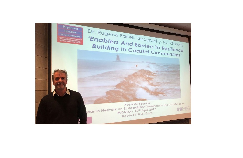 Dr Eugene Farrell keynote presentation on Sustainability Transitions in the Coastal Zone-image
