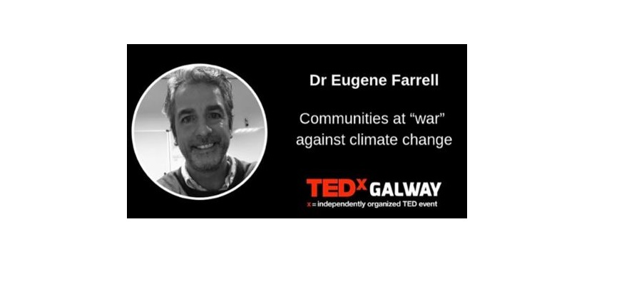 Dr Eugene Farrell speaks at TEDX Galway on climate change impacts on coastal communities -image