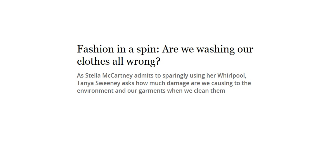 Fashion in a spin: Are we washing our clothes all wrong?-image