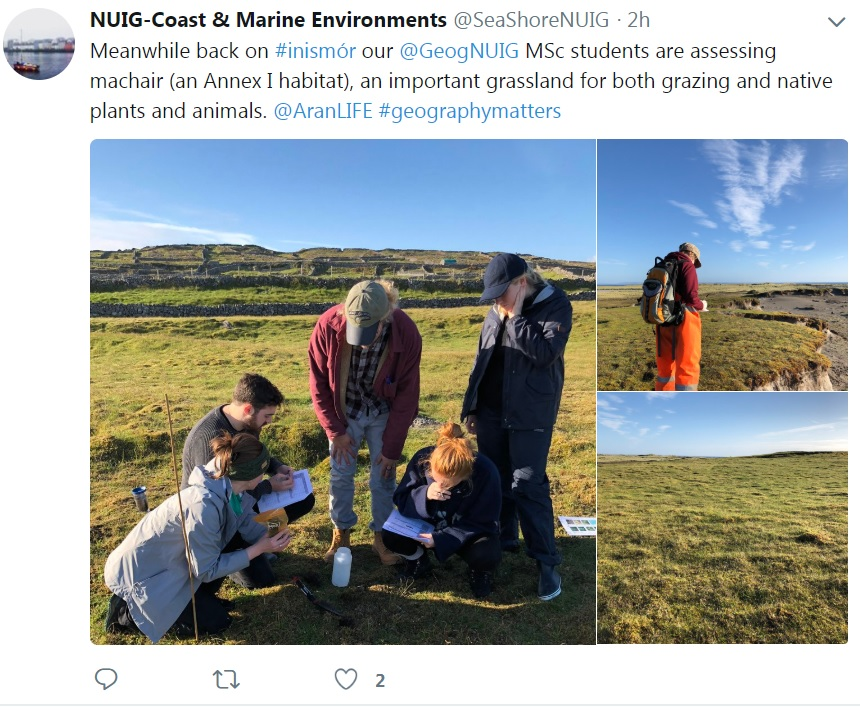 MSc students assessing machair on Inismor-image