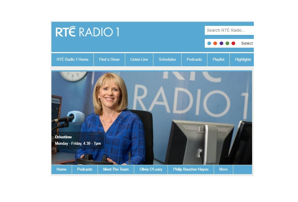 Drivetime on RTÉ Radio 1 Interview with Dr Shane Conway-image