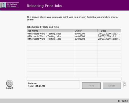 Print Release Station Jobs