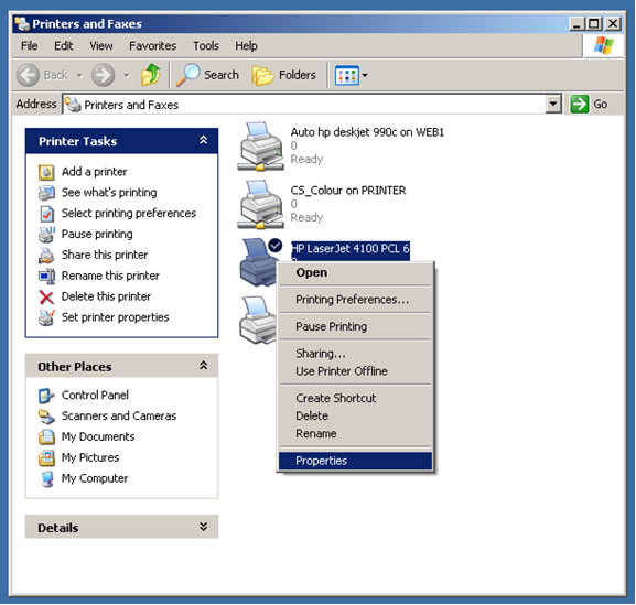 Find IP Address of Printer - NUI Galway