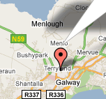 Image of NUI Galway's Google map