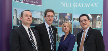 Pictured at the opening of the First International Autism Conference in Ireland at NUI Galway from left: Dr Simon Wallace, Autism Speaks; Dr Jim Browne, President of NUI Galway; Dr Geraldine Leader, Centre of Autism and Neurodevelopment Research, NUI Galway; and Mr Andy Shih, Autism Speaks.