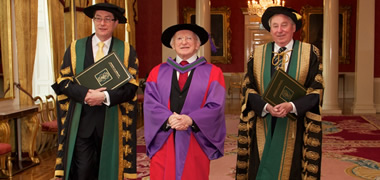 Pictured (L-R) Vice-Chancellor of NUI and President of NUI Galway, Dr Jim Browne; President of Ireland, His Excellency, Dr Michael D. Higgins; and Chancellor of NUI, Dr Maurice Manning