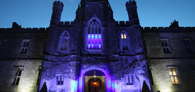 Pictured is The Quadrangle at NUI Galway which turned blue last year to mark World Autism Awareness Day on 2 April.