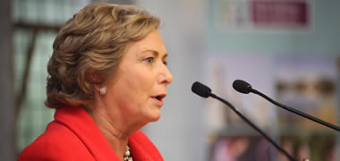 Frances Fitzgerald, TD and Minister for Children and Youth Affairs speaking at the Forum on Children's Rights at NUI Galway