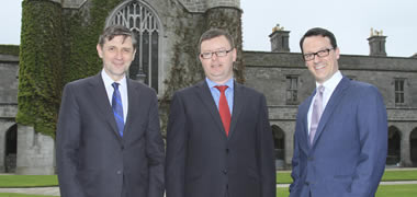 Pictured at the announcement of the EU FP7-funded REDDSTAR project from L-R: Professor Timothy O'Brien, Dean of Medicine and Director of REMEDI at NUI Galway, Brian Molloy and Steve Elliman, Orbsen Therapeutics. Photo: Aengus McMahon