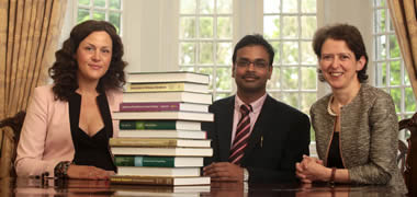 Pictured with the 6 books published in 1 year are (l to r) Dr Anthonia O'Donovan, Dr Vijai Kumar Gupta and Dr Maria G Tuohy of the Molecular Glycobiotechnology Group, Biochemistry, School of Natural Sciences, NUI Galway.