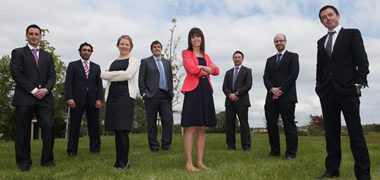 Pictured are the BioInnovate Fellows of 2012/13: Kiel McCool, Ashwin Kher, Caroline Gaynor, David Brody, Sarah Loughrey, Michael Morrissey, Christopher McBrearty and Conor Harkin.