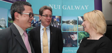 Pictured today at NUI Galway where the 2nd International Conference on Autism Spectrum Disorders commenced (l-r): Dr Andy Shih, Autism Speaks; President of NUI Galway , Dr Jim Browne; and Dr Geraldine Leader, Director of the Irish Centre for Autism and Neurodevelopmental Research at NUI Galway.