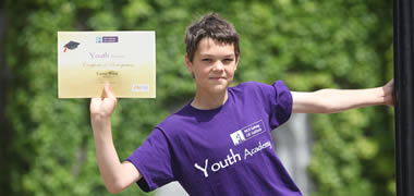 Pictured with his certificate of participation at the Youth Academy graduation ceremony was Éanna Wood from Spiddal, Co. Galway.