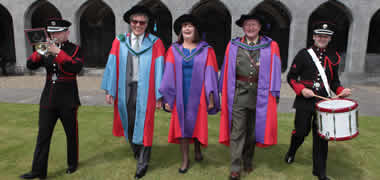 NUI Galway Confers Honorary Degrees on Commissioner Máire Geoghegan-Quinn, Lt. Gen. Seán McCann and Finian O'Sullivan -image
