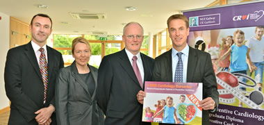 Pictured at the launch of the Croí Bursaries for the new MSc in Preventive Cardiology at NUI Galway are (l-r): Dr Ger Flaherty, MSc Programme Director, NUI Galway; Mairead McCaul, MSD Ireland; Dr Jim Crowley, Consultant Cardiologist and Medical Director, Croí; and Brian Longstreet Managing Director MSD Ireland.
