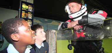 The programme for NUI Galway's Sea2Sky , which takes place on 28 September, was officially launched at the Galway Atlantaquaria today. Participating were Caleb Fapohunda and Rory O'Connor from St. Pat's Boys School.