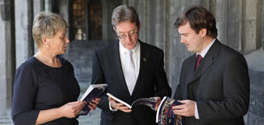 Pictured marking the publication of the Education Matters Yearbook 2013 are (l-r): Dr Mary Fleming, Head of the School of Education, NUI Galway; Dr Jim Browne, President, NUI Galway; and Dr Tony Hall, School of Education, NUI Galway and Editor of the Education Matters Yearbook 2013.