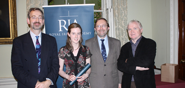 Pictured is NUI Galway student Fionnuala Connolly with Dr Michael Tuite, Dr Ray Ryan and Professor Ted Hurley from the School of Mathematics, Statics and Applied Mathematics at NUI Galway