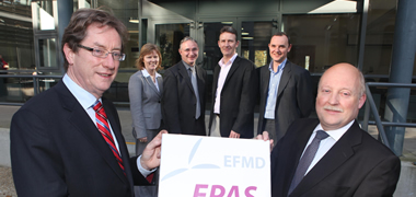 Pictured at the formal launch of the EPAS Accreditation of the BSc Business Information Systems at NUI Galway (l-r): Dr Jim Browne, President of NUI Galway; Dr Emer Mulligan, Dr Willie Golden, Dr Tom Acton, Mr Martin Hughes, all of the J.E. Cairnes School of Business and Economics and Dr Chris Coughlan, Hewlett Packard Galway.