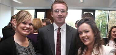 Pictured at the recent NUI Galway J.E. Cairnes School of Business and Economics Career Mentoring event was: Aisling Walshe, Bachelor of Commerce student; Eoin Cahalan, Accenture; and Jessica Dunne, Bachelor of Commerce (International) student.