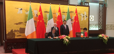NUI Galway signs agreement with leading Chinese university during President Higgins' State Visit-image