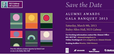 NUI Galway Announces Date for Alumni Awards 2013-image