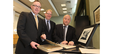 Pictured at the launch of the Masters Fellowship between NUI Galway and Hewlett Packard were (l-r): Mark Gantly, Managing Director, Hewlett-Packard Galway; Dr James Cunningham, Institute for Business, Social Sciences and Public Policy, NUI Galway; and Dr Chris Coughlan, Head of Cloud Computing Hewlett-Packard Galway.