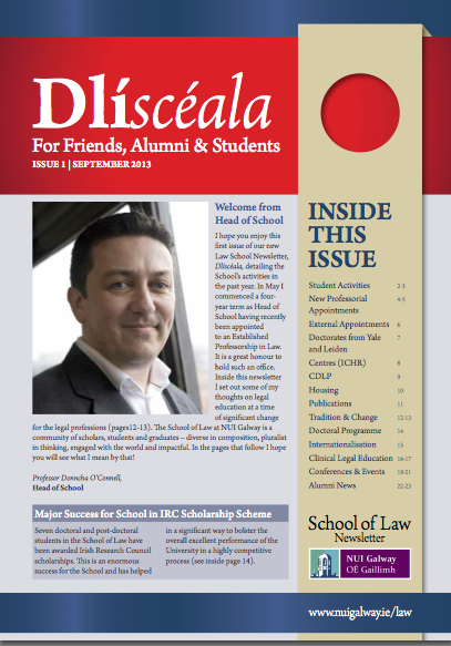 Dlisceala cover 2013 School of Law Newsletter