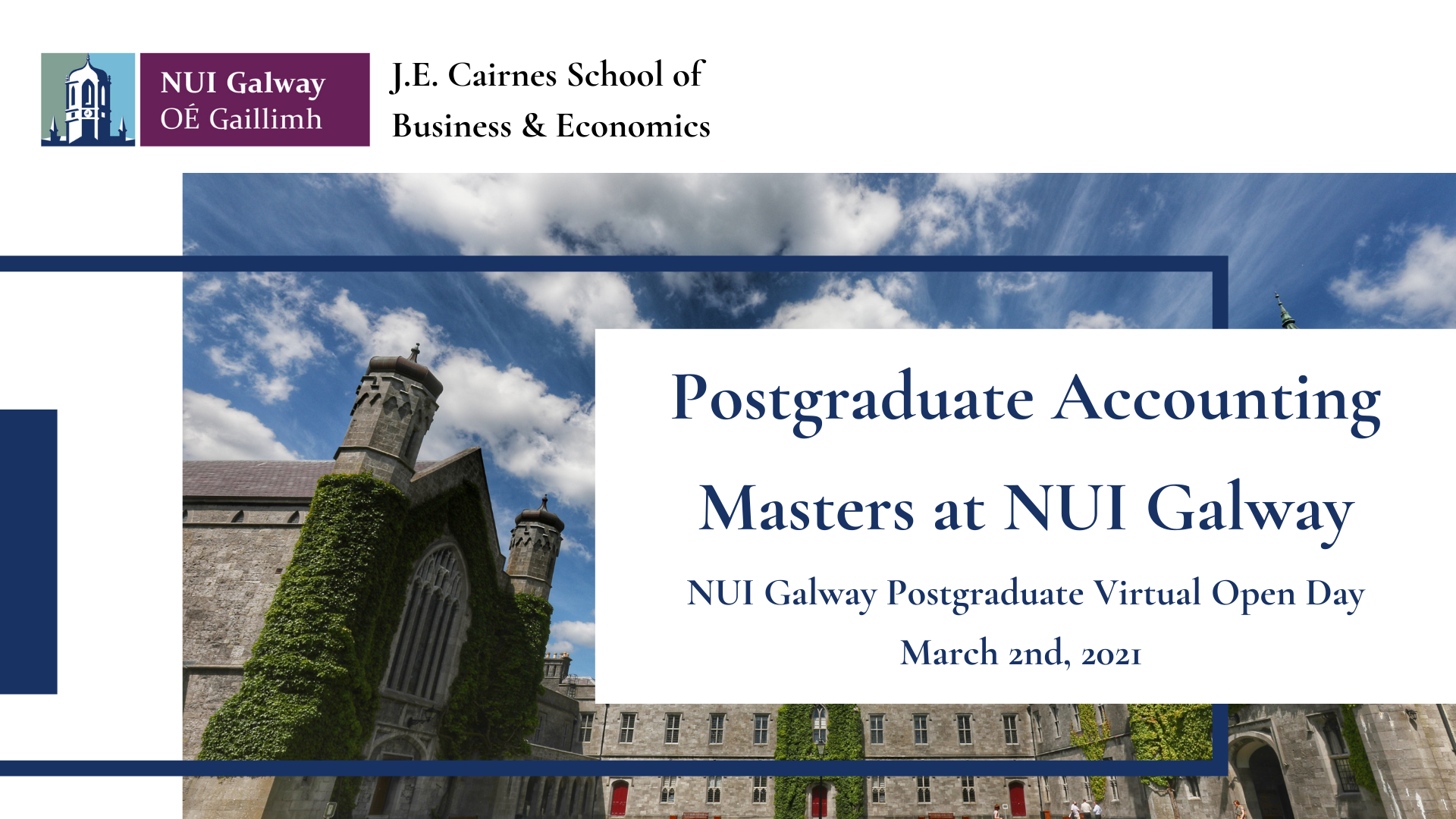 Accounting Postgraduate Open Day Talks 24 November 2020