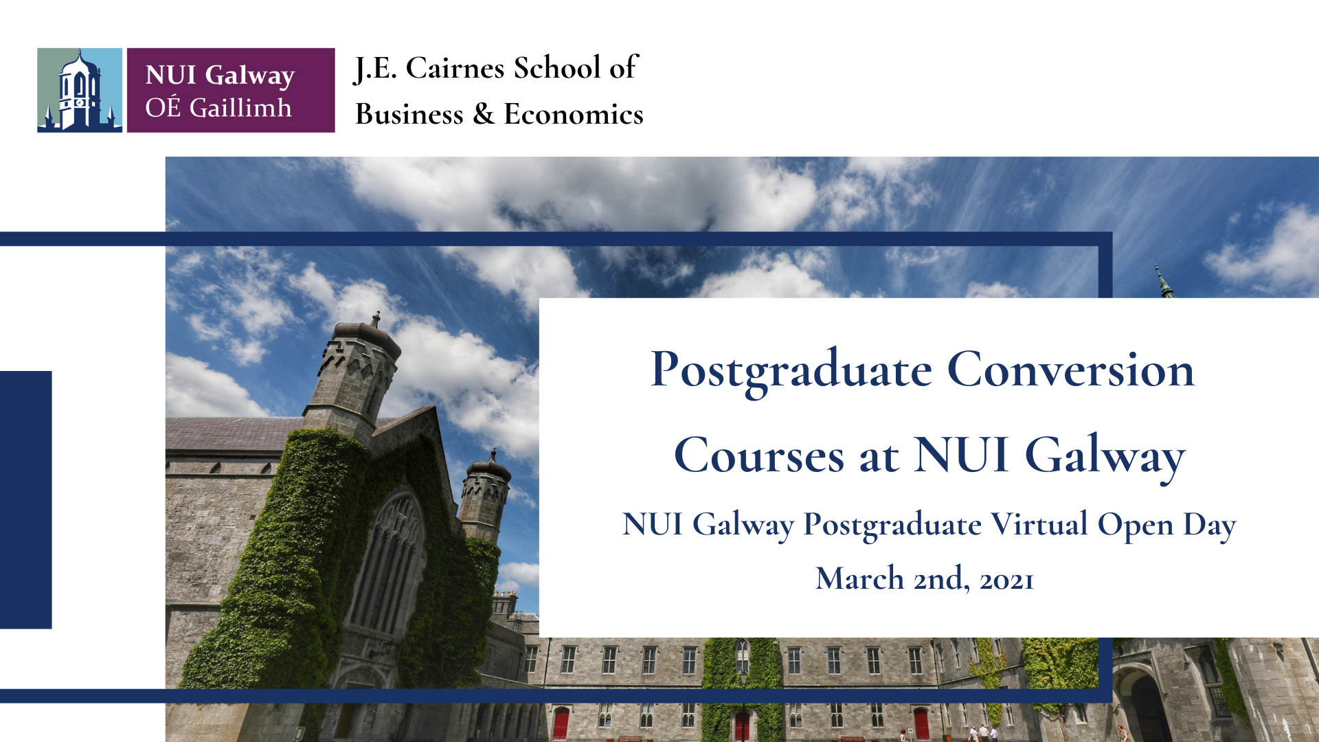 Postgraduate Conversion Courses Virtual Open Day March 2021